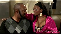 big stacked ebony beauty sucks huge black dong in this parody