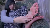 Teen Feet Red Toes
