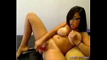 pussy her with playing girl breast big Nerdy