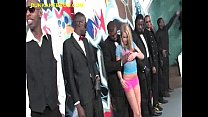 Blonde Does Oral Service to Black Menen