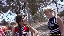 Cheerleader Jojo Kiss and Zelda Morrison tries BBC porn videos