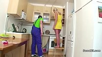 German Daughter fucked by repairman when mom an...