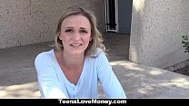 TeensloveMoney- Stranded Blonded Gives Up Pussy For Cash porn videos
