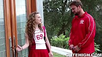 Cheerleader Seduces Coach thumb