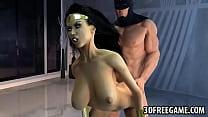 Hot 3D cartoon Wonder Woman gets fucked by Batman