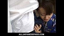 Mai Satsuki is a great geisha in a kimono that satisfys both of her businessmen porn videos