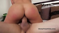 Blonde with big boobs and big buts riding cock