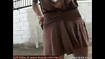 street the in flashing Tits