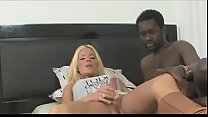 cock black a rides shemale blond sexy Very