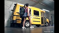 black chick fucking on the school bus
