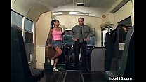 Black chick fucking on the school bus porn videos