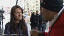 A Russian babe seduced and roughly fucked in th...