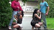 Pregnant girl risky PUBLIC street swinger orgy gangbang porn videos