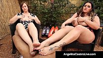 Full Figured Angelina Castro & Virgo Peridot Fo...