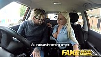 Fake Driving School Busty blonde Barbie Sins wants learners cum on test