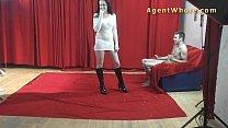 19yo casting boy gets wild striptease from nasty MILF porn videos
