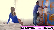 Teen caught by mom punished with fuck lesson