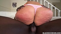 Busty MILF with a huge ass takes on two cocks (...
