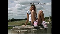 blonde teen uspkirt with no panties