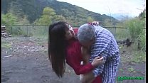 at outdoor ass to cum man old by fucked and licked pussy her getting girl Asian