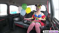 Gal in clown costume fucked by the driver for f... thumb
