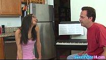 Petite teen fucked hard by piano teacher