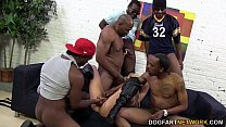 Hailey Holiday gets gangbanged by mulitple BBC