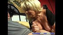 mature big boobs blonde gives a blowjob