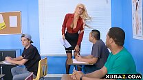Immens curves teacher blonde fucks her student in class porn videos