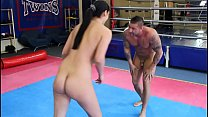 diana stewart vs. zsolt   nde erotic mixed wrestling w blowjob face sitting