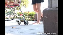 Christy Cat dusty high arched feet in parking lot thumb