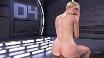 Cute ass blonde gets fucking machine