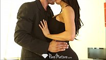 HD - PureMature Peta Jensen strips off black dr...