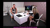 FemaleAgent Smoking hot new female agent seduces stud thumbnail