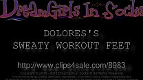 Dolores's Sweaty Workout Feet - www.c4s.com/898...