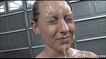 hot babe gets a huge facial