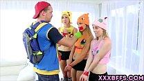 chicks teen awesome three with parody xxx go Pokemon