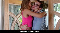 FamilyStrokes - College Bro Cums Home To Horny SIs porn videos