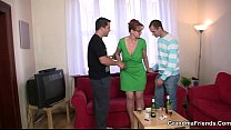 chick old with party Threesome