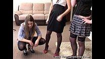Широко раздвинуты ноги трусики