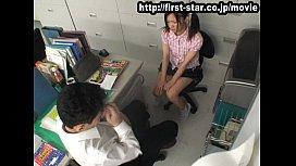 覗き見カメラを仕掛けた職員室でチャーミング生徒にSEXなお叱りをするヘンタイ教師☆