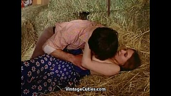 Softcore sex right in the barn