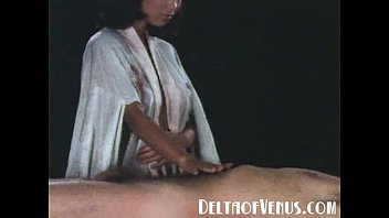 1970s vintage chinese girl, massage and fuck