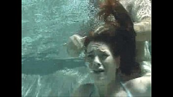 Latinas underwater forced to fuck
