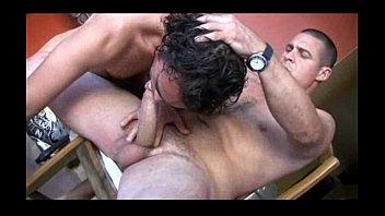 Seco Gay Gays dandose leche en la regadera