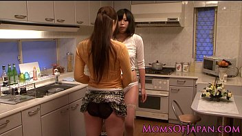 Japanese lesbian housewives licking..