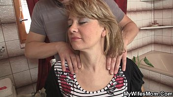 Wife comes out and he bangs her hot mom | Video Make Love
