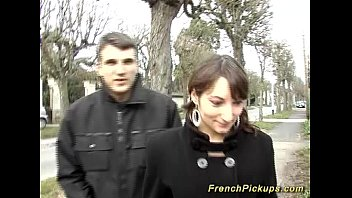 Cute french teen picked up for anal