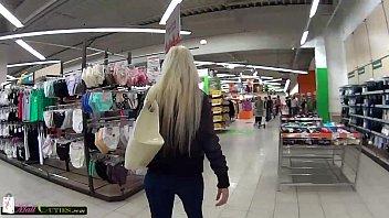 Mallcuties teen teen blonde girl, teen girl fucking for buying clothes..