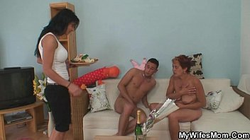 Cock hungry motherinlaw jumps on his cock